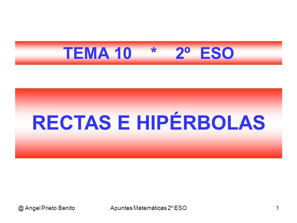 @ Angel Prieto BenitoApuntes Matemáticas 2º ESO1 RECTAS E HIPÉRBOLAS TEMA 10 * 2º ESO