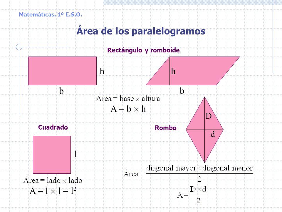 Matemáticas. 1º E.S.O. Piensa un poco 1. Tiene los cuatro lados iguales: a) Sólo el cuadradob) Algunos rectángulosc) El cuadrado y el rombo 2. Sólo ti