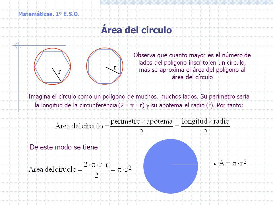 Longitud de la circunferencia y de un arco de circunferencia La longitud de la circunferencia es igual a su diámetro multiplicado por el número, o lo
