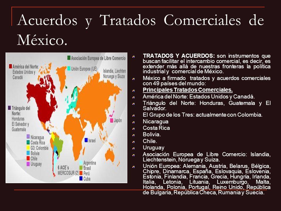 Acuerdos y Tratados Comerciales de México. TRATADOS Y ACUERDOS: son instrumentos que buscan facilitar el intercambio comercial, es decir, es extender