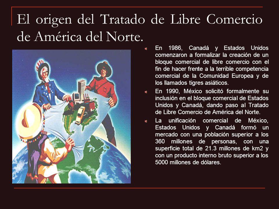 El origen del Tratado de Libre Comercio de América del Norte. En 1986, Canadá y Estados Unidos comenzaron a formalizar la creación de un bloque comerc