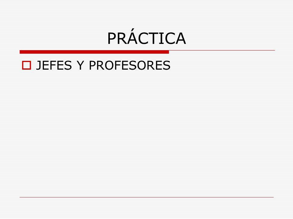 PRÁCTICA JEFES Y PROFESORES