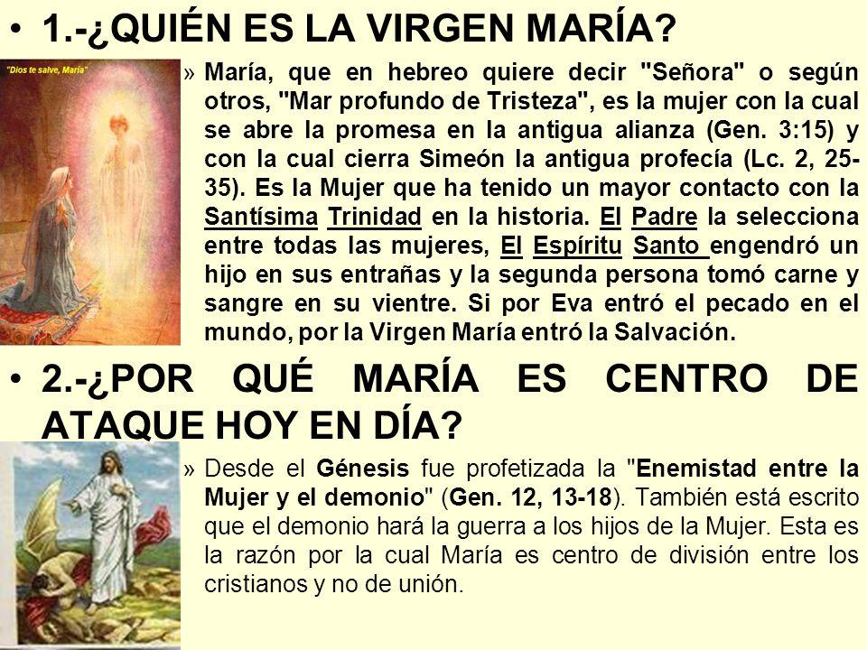 1.-¿QUIÉN ES LA VIRGEN MARÍA? »María, que en hebreo quiere decir