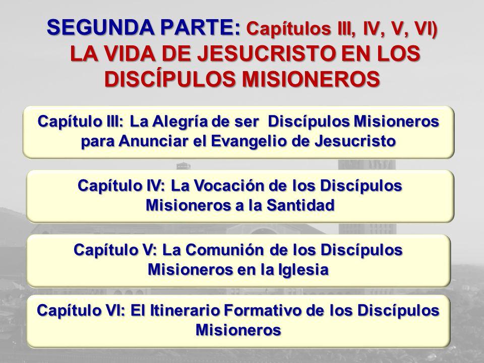 SEGUNDA PARTE: Capítulos III, IV, V, VI) LA VIDA DE JESUCRISTO EN LOS DISCÍPULOS MISIONEROS Capítulo IV: La Vocación de los Discípulos Misioneros a la