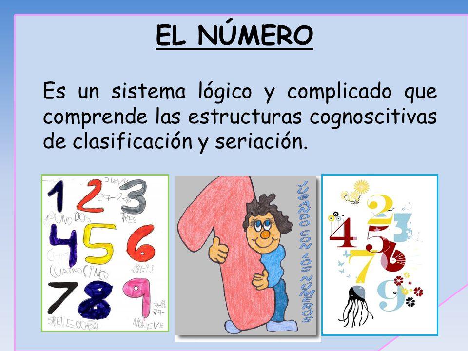 EL NÚMERO Es un sistema lógico y complicado que comprende las estructuras cognoscitivas de clasificación y seriación.