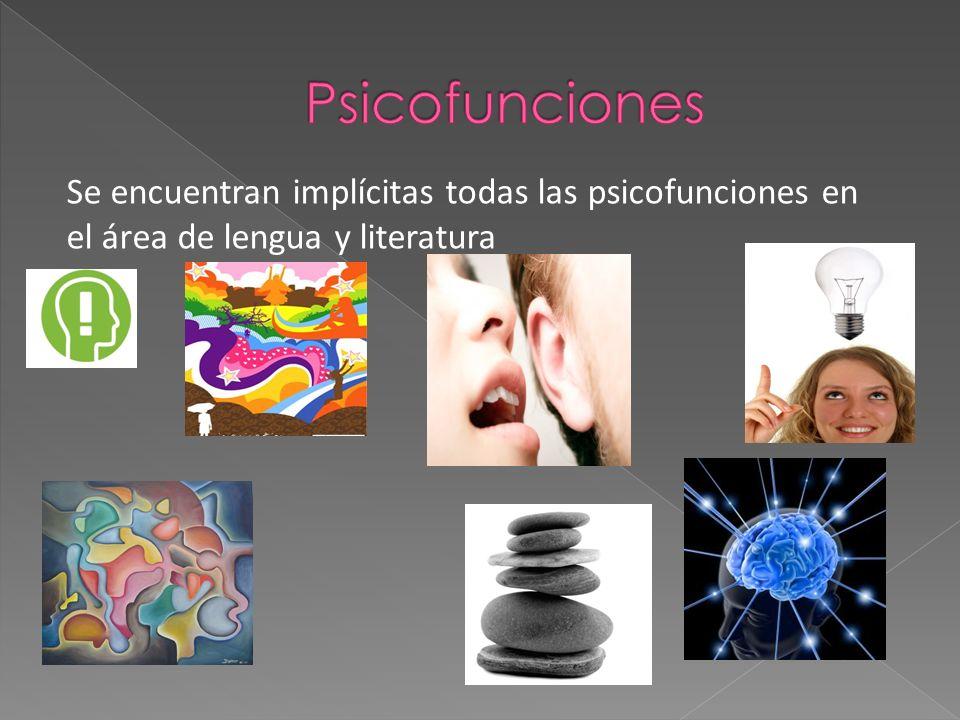 Se encuentran implícitas todas las psicofunciones en el área de lengua y literatura