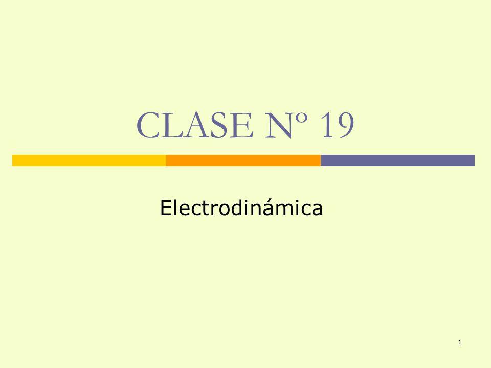 1 CLASE Nº 19 Electrodinámica