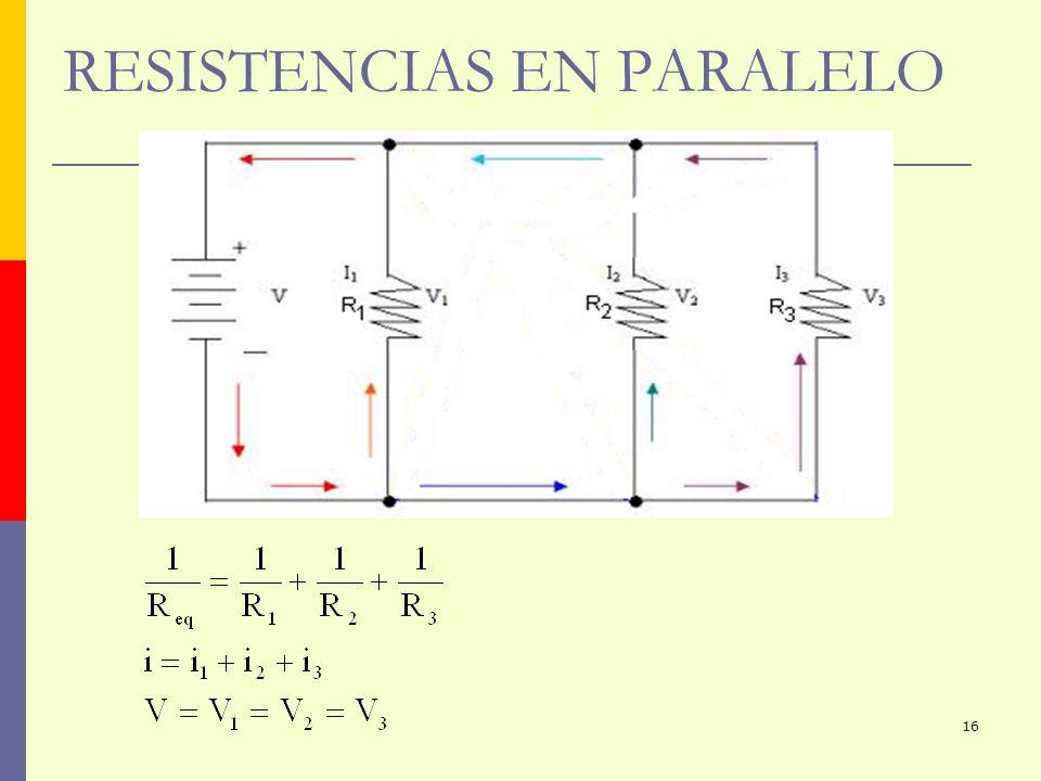 16 RESISTENCIAS EN PARALELO