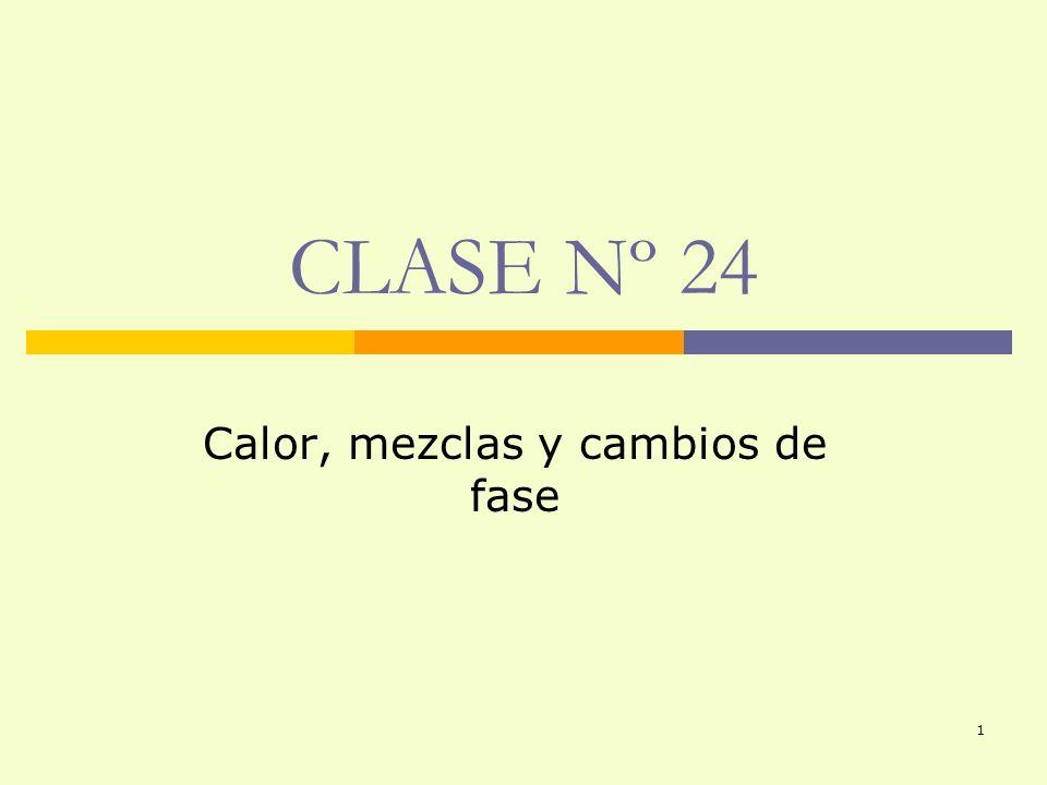 1 CLASE Nº 24 Calor, mezclas y cambios de fase