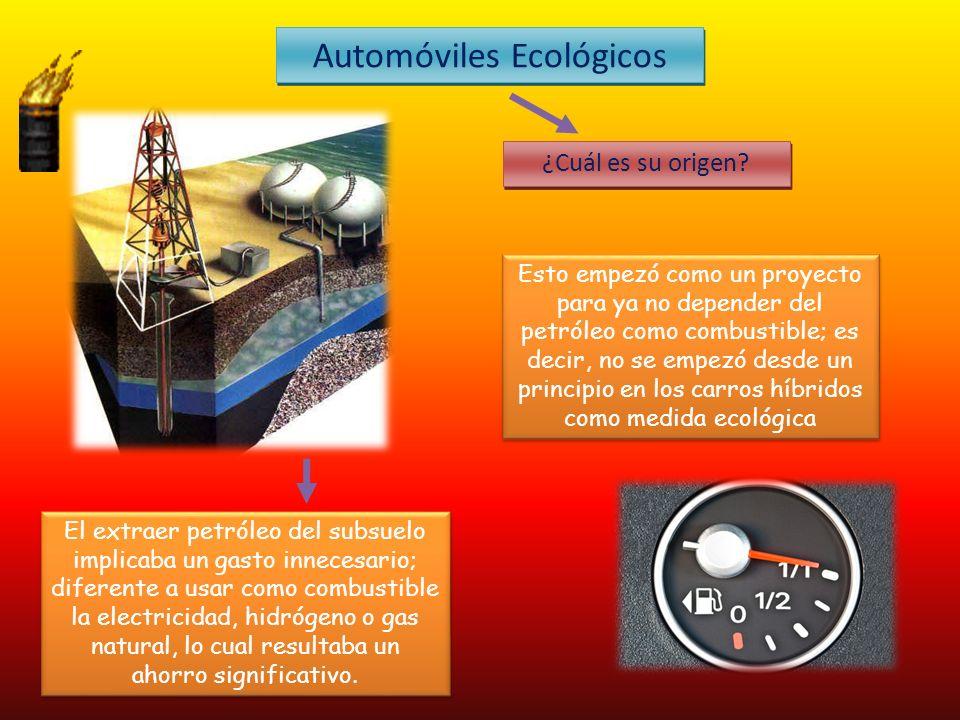 Automóviles Ecológicos ¿Cuál es su origen.