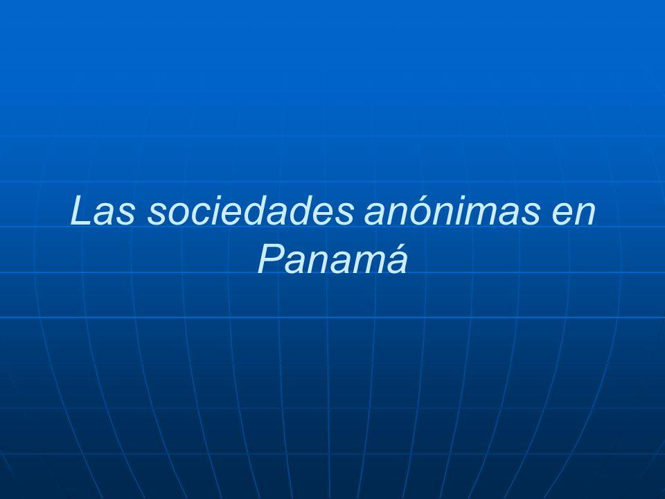 Las sociedades anónimas en Panamá