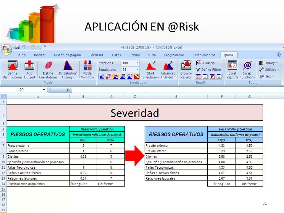 APLICACIÓN EN @Risk 31