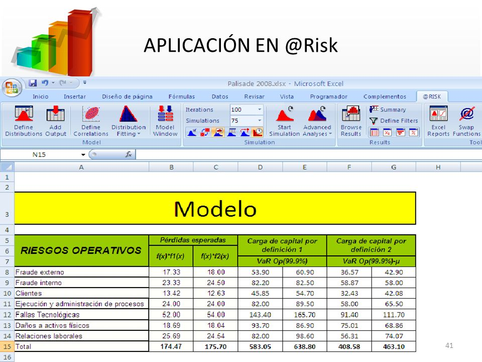 APLICACIÓN EN @Risk 41