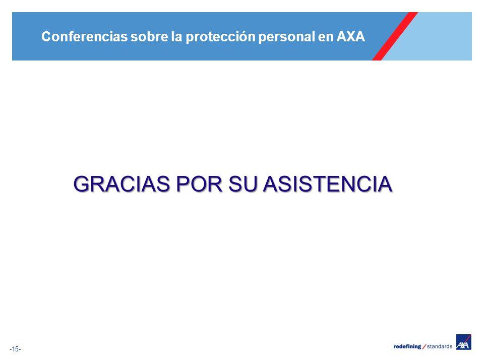 Conferencias sobre la protección personal en AXA -15- GRACIAS POR SU ASISTENCIA