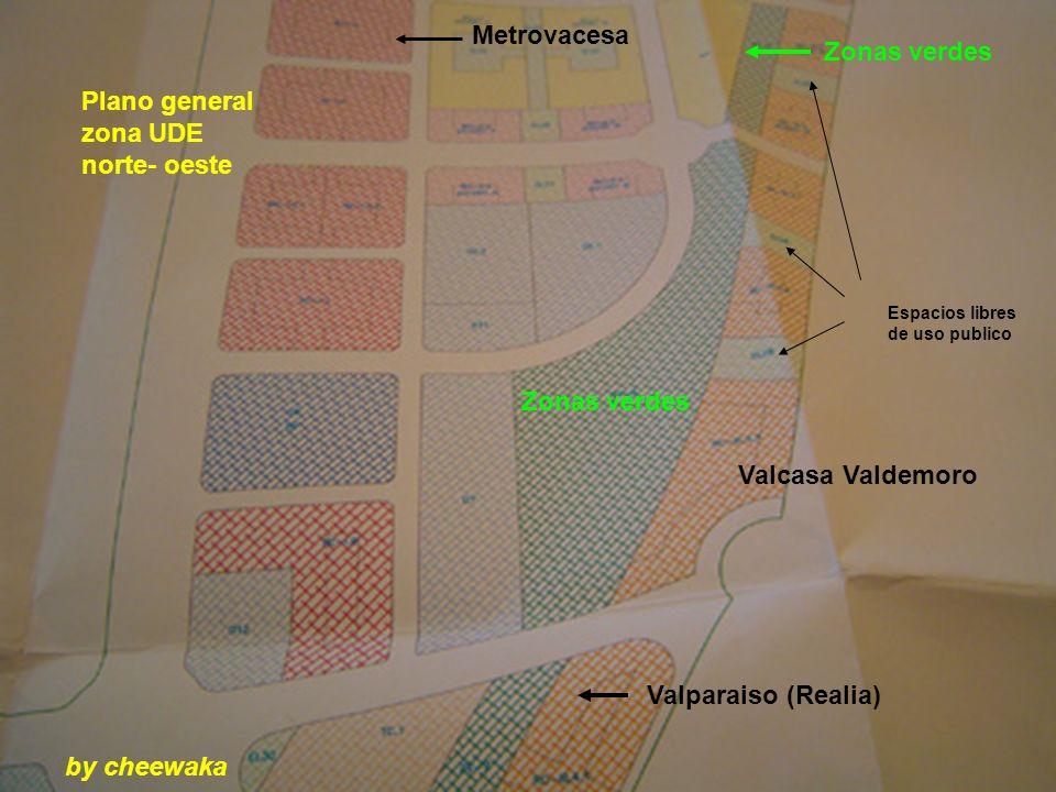 Valcasa Valdemoro Plano general zona UDE norte- oeste Metrovacesa Zonas verdes Valparaiso (Realia) Espacios libres de uso publico by cheewaka