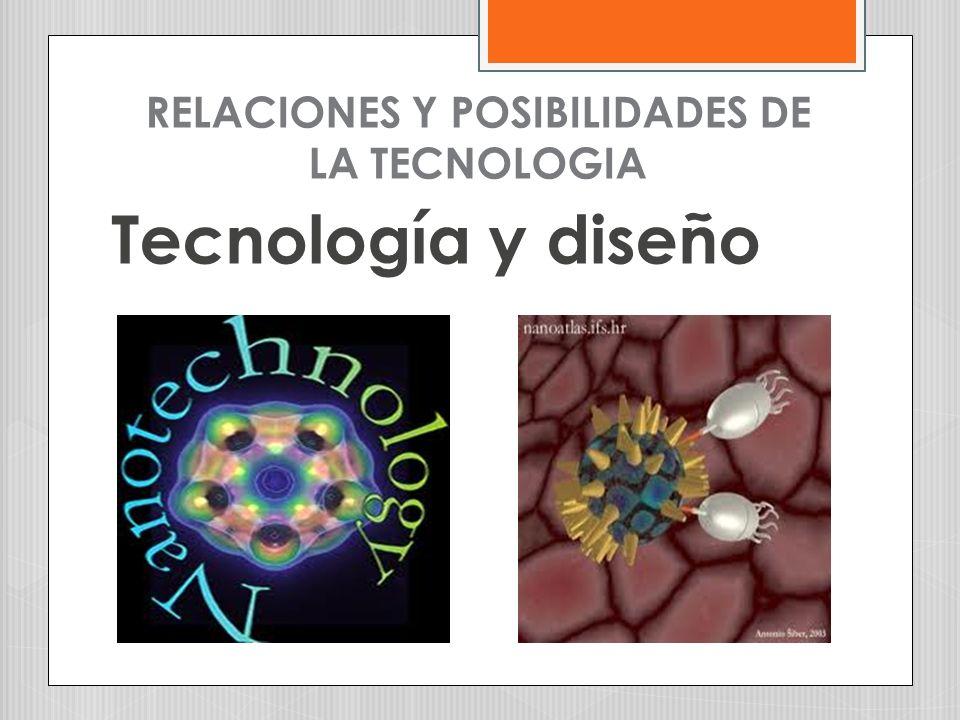 RELACIONES Y POSIBILIDADES DE LA TECNOLOGIA Tecnología y diseño