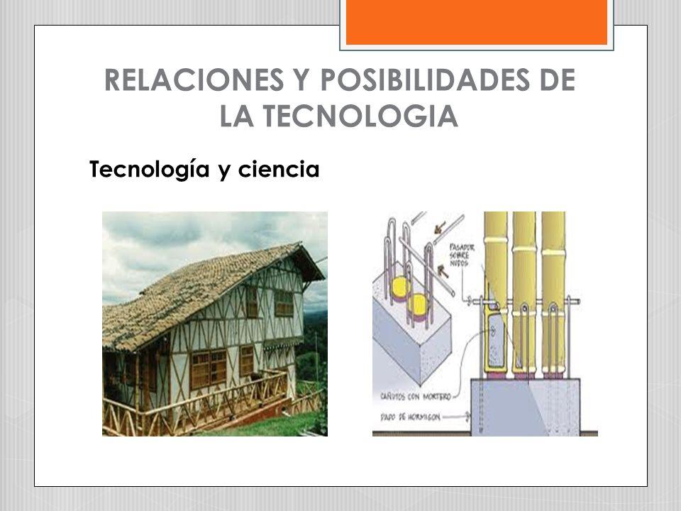RELACIONES Y POSIBILIDADES DE LA TECNOLOGIA Tecnología y ciencia