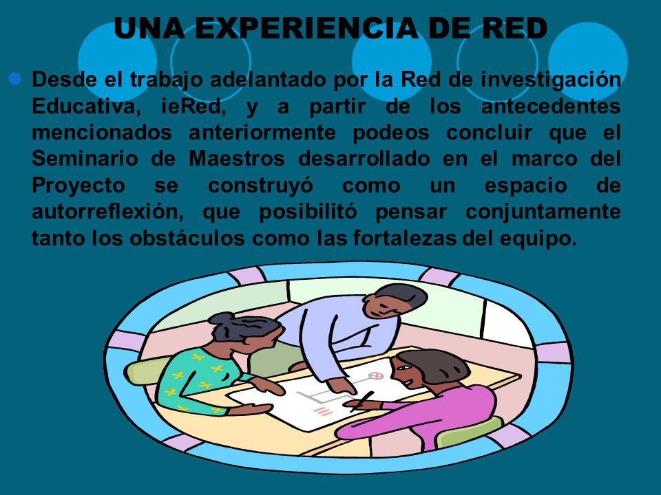 RELEVANCIA DE LAS REDES PÈDAGOGICAS Se abre un espacio de deliberación acerca de las prácticas de enseñanza en los centros de formación docente, forta