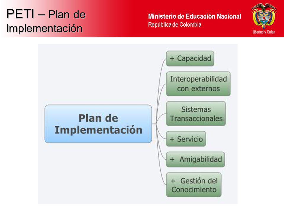 Ministerio de Educación Nacional República de Colombia Proyecto MENSOA Integración de 6 Sistemas de Información: SINEB, SIMAT, RRHH, SIGCE, SAC, SGCF MINISTERIO DE EDUCACIÓN NACIONAL República de Colombia INFORME DE PROYECTO