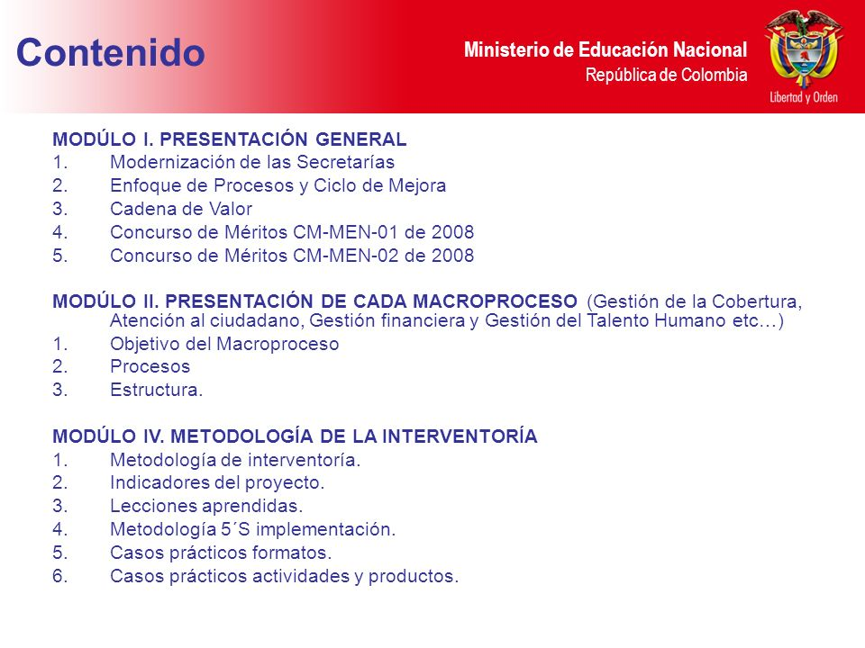 Ministerio de Educación Nacional República de Colombia Secretarías (3) Procesos a Implantar Terminación Estimada Tolima, Ibagué y Girardot Macro proceso L.