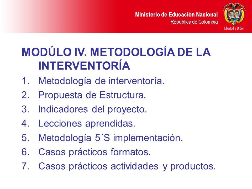 Ministerio de Educación Nacional República de Colombia MODÚLO IV.