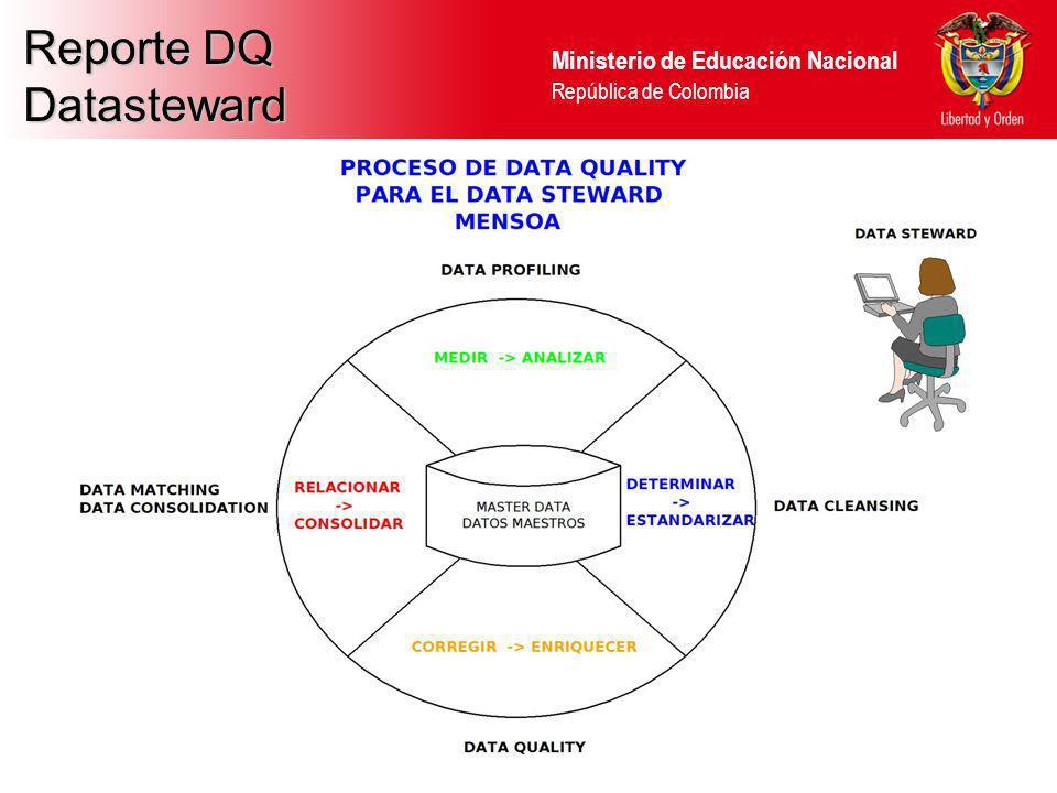Ministerio de Educación Nacional República de Colombia Reporte DQ Datasteward
