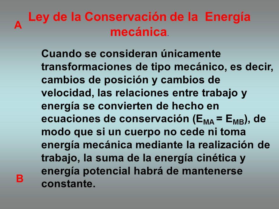 el trabajo y la energía potencial Para proporcionar energía potencial a un sistema es necesario realizar un trabajo. Se realiza un trabajo para levant