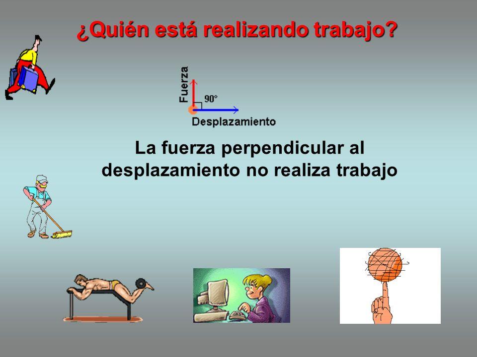 TRABAJO Trabajo(W) es el producto de una fuerza F aplicada sobre un cuerpo y el desplazamiento del cuerpo en la dirección de esta fuerza. W = F.d. cos
