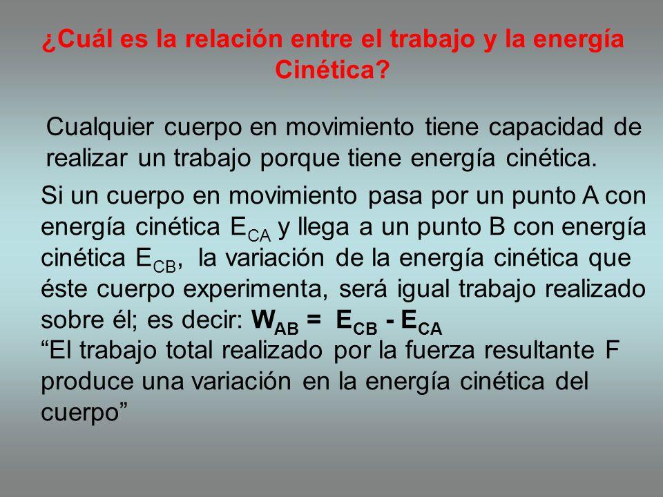 Energía cinética es la energía que posee un cuerpo de masa m debido a su movimiento o velocidad. De acuerdo con esta ecuación, si la velocidad de un o
