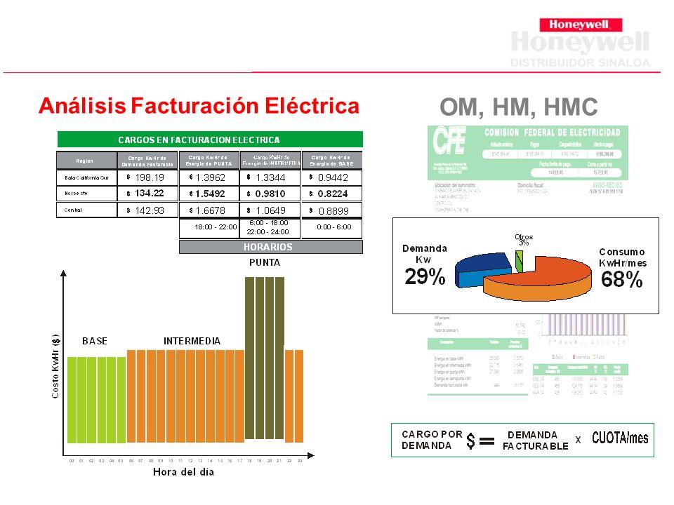Análisis Facturación Eléctrica OM, HM, HMC