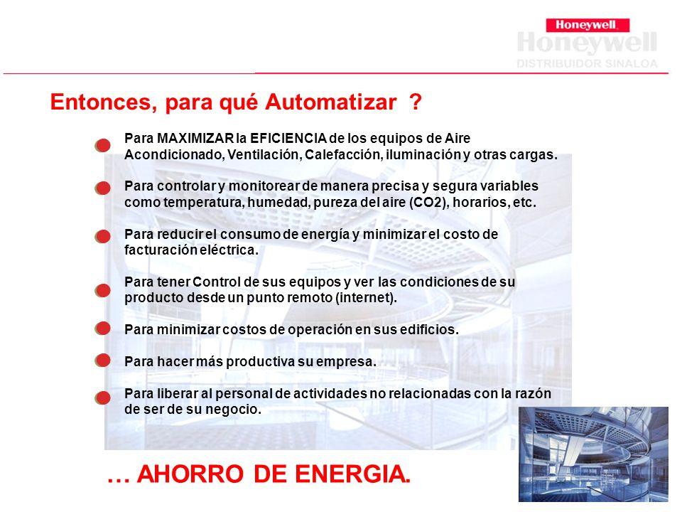 Entonces, para qué Automatizar .… AHORRO DE ENERGIA.