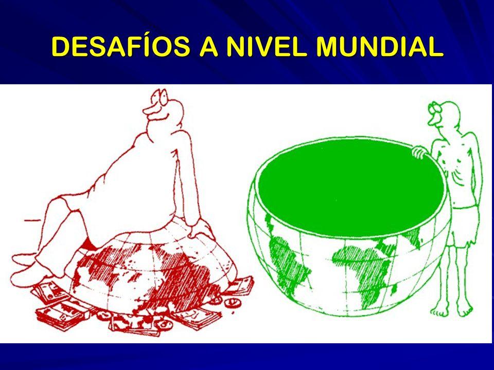 DESAFÍOS A NIVEL NACIONAL POBREZA E INEQUIDAD CORRUPCIÓN INESTABILIDAD DE LAS INSTITUCIONES CRISIS DE LOS PARTIDOS POLÍTICOS