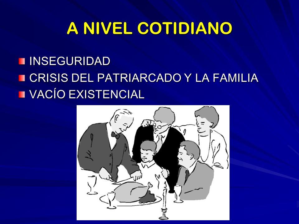 A NIVEL PROFESIONAL FALTA DE PROFESIONALIDAD UTILITARISMO FALTA DE PROYECTO DE VIDA