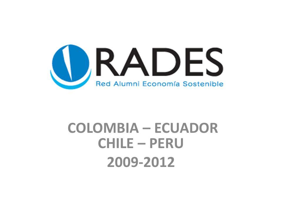 COLOMBIA – ECUADOR CHILE – PERU 2009-2012