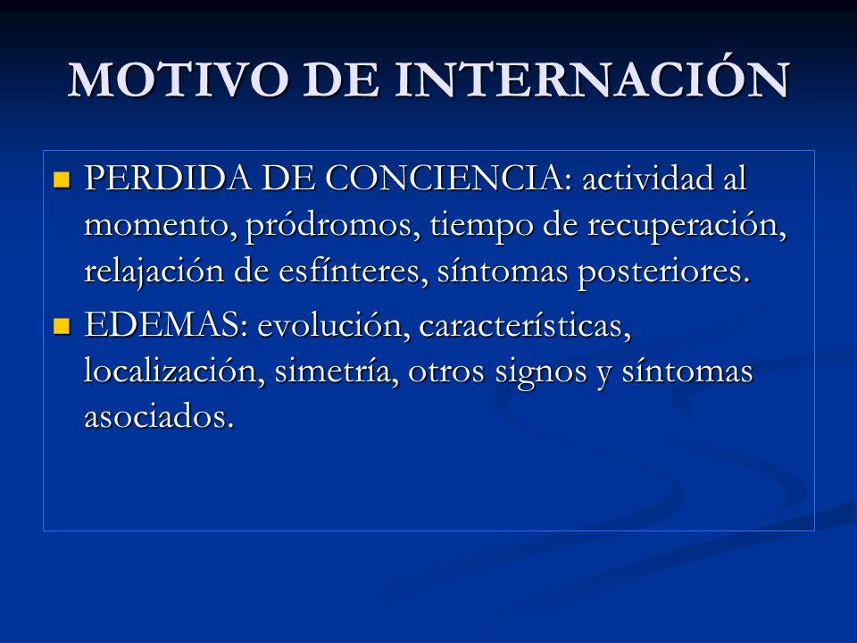 MOTIVO DE INTERNACIÓN CIANOSIS: diagnostico diferencial entre central o periférica.