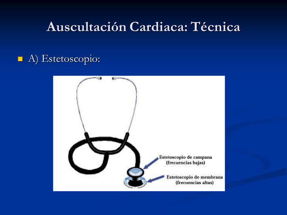 Auscultación Cardiaca: Técnica B) Ambiente silencioso.