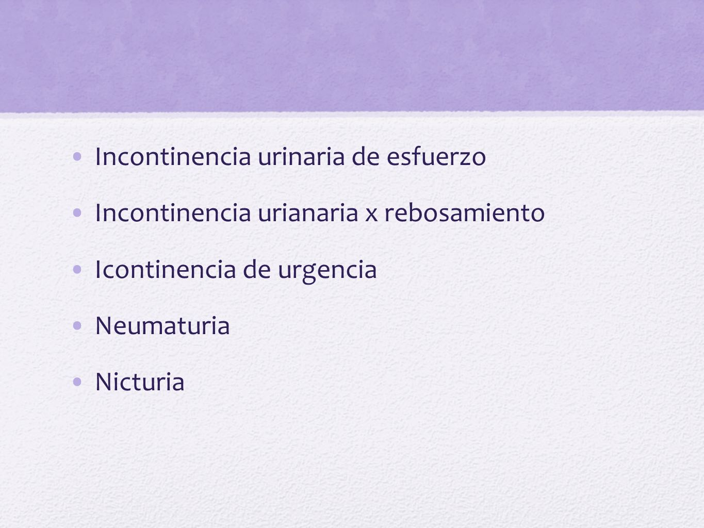 Examen Neurolgico Sensibilidad superficial y profunda en el area genital y piel adyacente Reflejos patelar y aquiliano (L4-S2) Reflejo cremasterico, bulbocavernoso y tono del esfinter anal Sensibilidad vibratoria del glande Disrafismos ( lx congenitas de medula espinal) Pruebas cerebelosas Evaluacion de la marcha