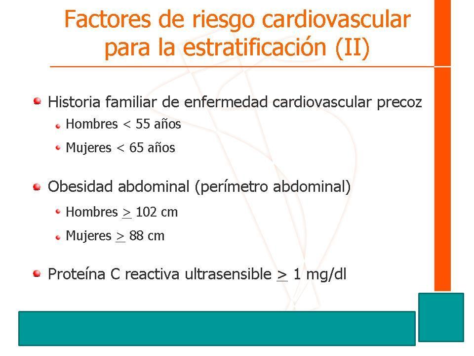 Factores de riesgo cardiovascular para la estratificación (II)
