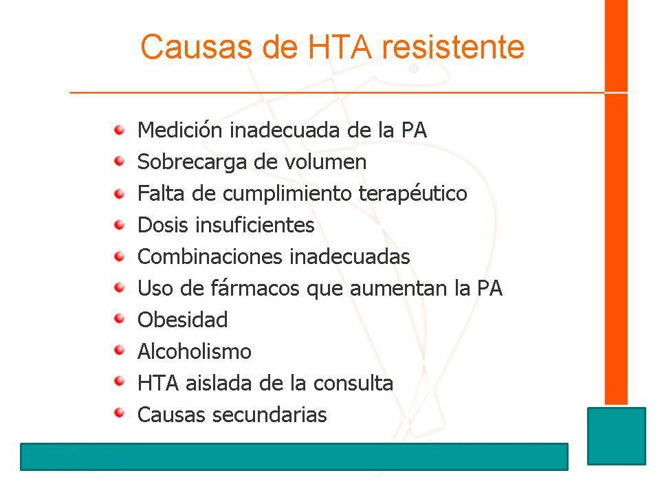 Causas de HTA resistente