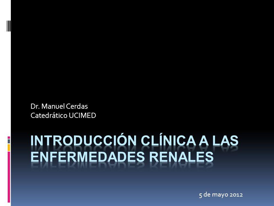 Glomerulonefritis Rápidamente Progresiva Insuficiencia Renal en días/ semanas Proteinuria Hematuria Presión arterial casi siempre normal Se debe descartar vasculitis