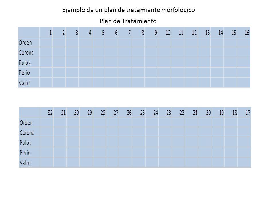 Plan de Tratamiento Ejemplo de un plan de tratamiento morfológico