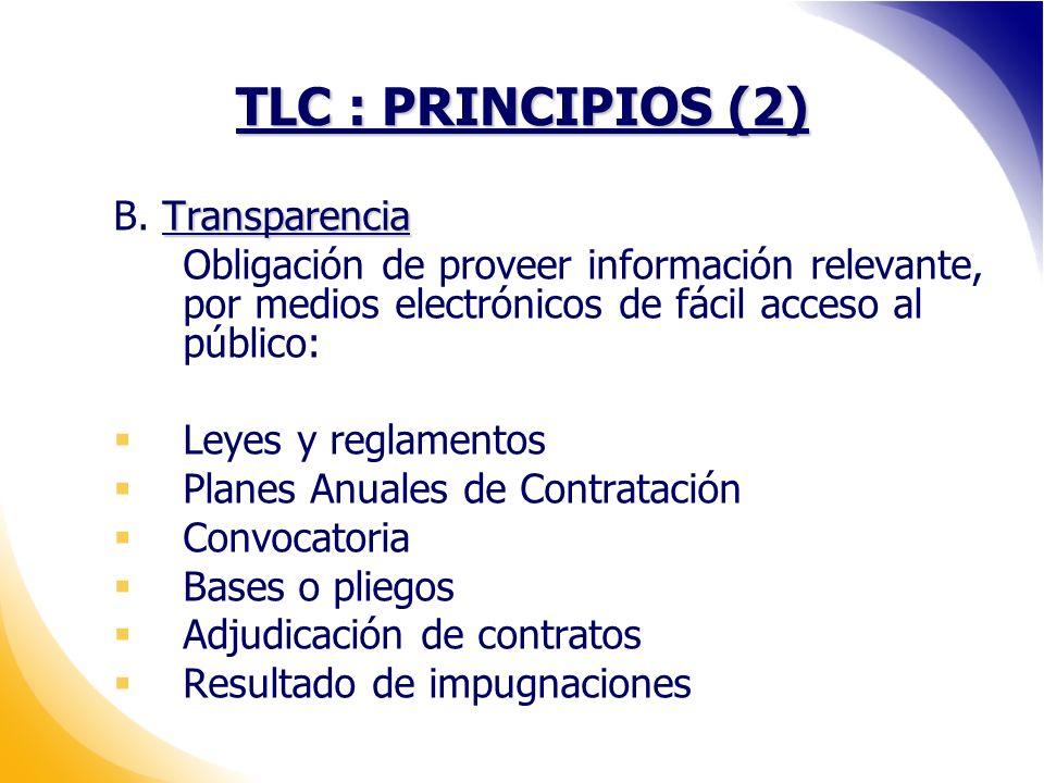 TLC : PRINCIPIOS (2) Transparencia B.