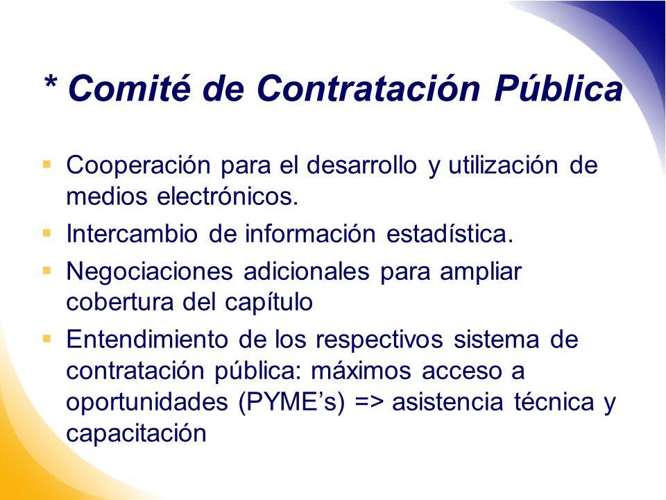 * Comité de Contratación Pública Cooperación para el desarrollo y utilización de medios electrónicos.