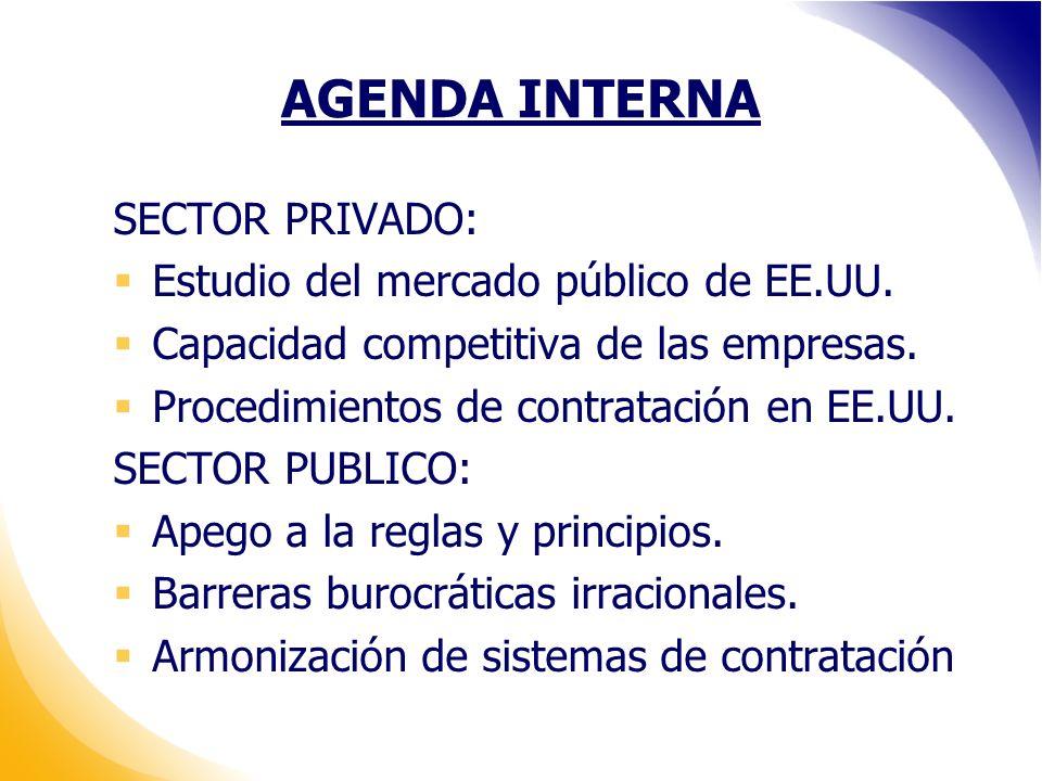 AGENDA INTERNA SECTOR PRIVADO: Estudio del mercado público de EE.UU.