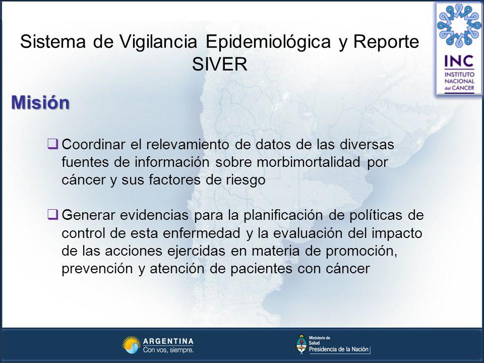 Sistema de Vigilancia Epidemiológica y Reporte SIVER Misión Coordinar el relevamiento de datos de las diversas fuentes de información sobre morbimorta