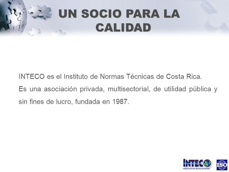 INTECO es el Instituto de Normas Técnicas de Costa Rica. Es una asociación privada, multisectorial, de utilidad pública y sin fines de lucro, fundada