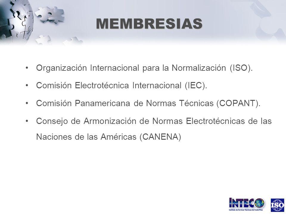 Organización Internacional para la Normalización (ISO). Comisión Electrotécnica Internacional (IEC). Comisión Panamericana de Normas Técnicas (COPANT)