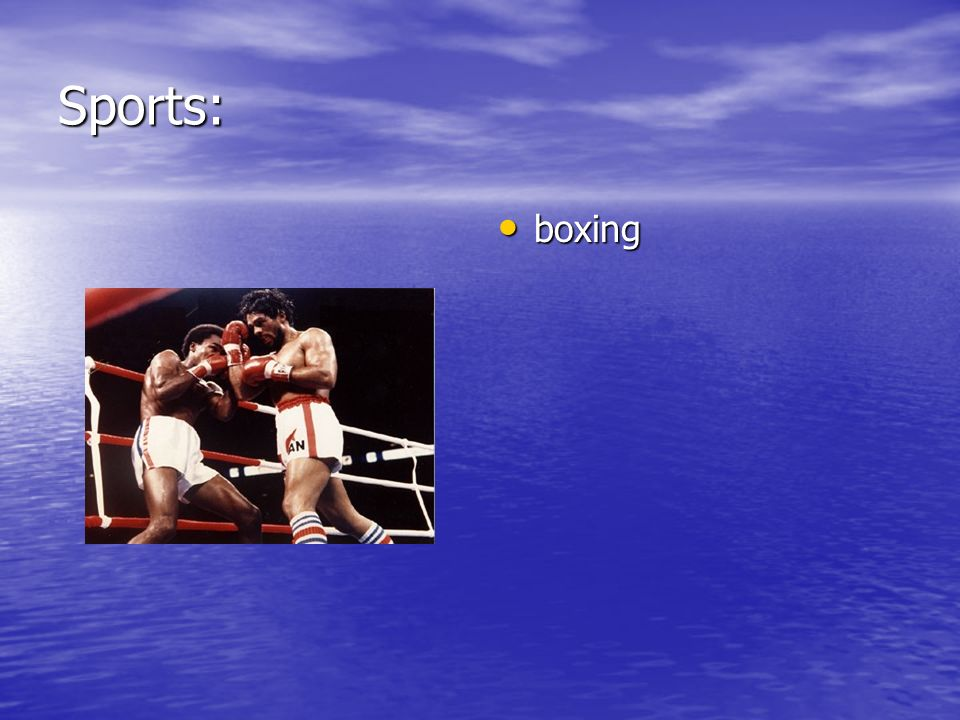 Sports: boxing boxing
