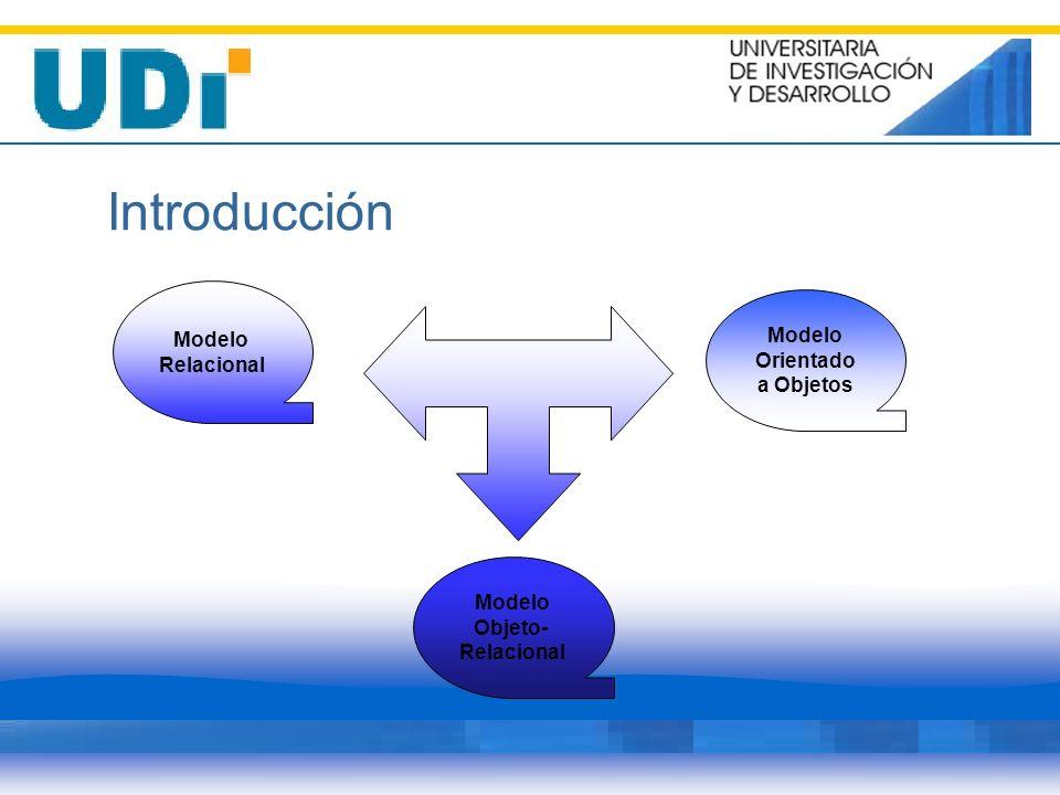 Introducción Modelo Relacional Modelo Orientado a Objetos Modelo Objeto- Relacional