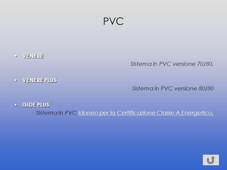 VENERE VENERE Sistema in PVC versione 70/80.